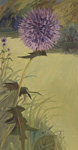 Globe Thistle and Pale Lawn